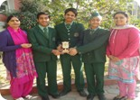 Pulkit,Shubham and Jashandeep of class X got first prize in quiz organised by Wild Life Protection Department