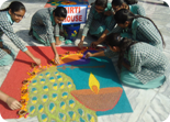 Inter House Rangoli Making Competition