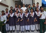 NCC CADETS (SENIOR WING) OF 3 PB  BATTALION BAGGED MEDALS IN NCC CAMP